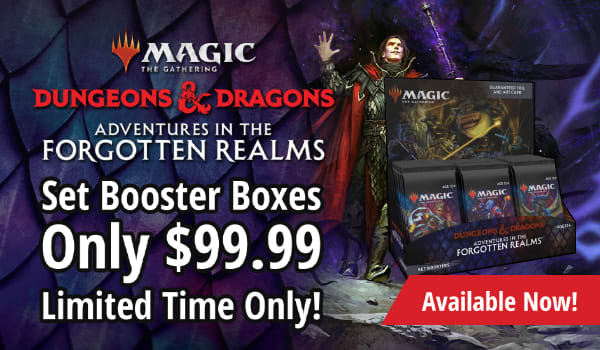 Magic: The Gathering Forgotten Realms Set Booster Boxes for only $99.99!