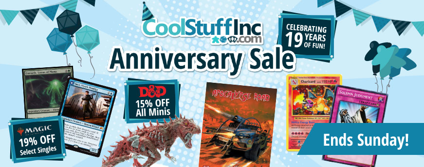 Cool Stuff Inc Anniversary Sale ends Sunday!
