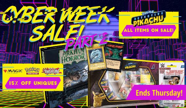 Cyber Week Sale Part 2 ends Thursday!