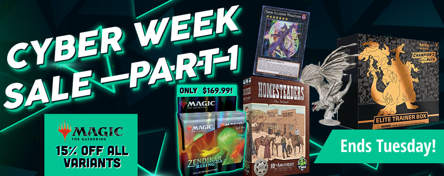 Cyber Week Sale Part 1 ends Tuesday!