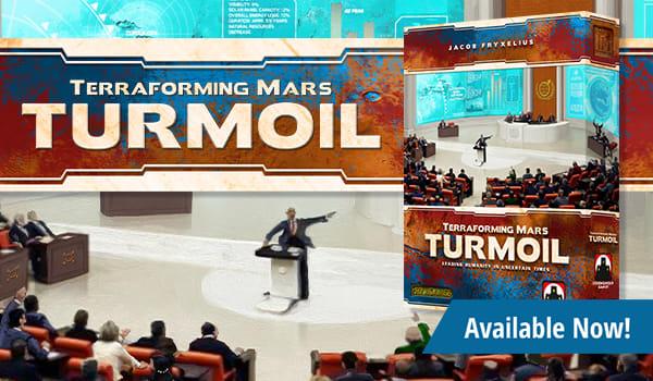 Terraforming Mars: Turmoil Expansion available now