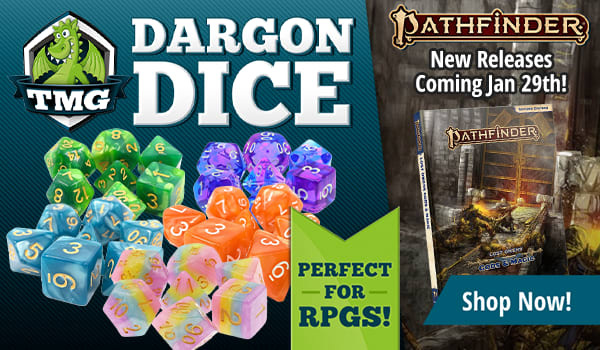 TMG Dargon Dice are perfect for Pathfinder