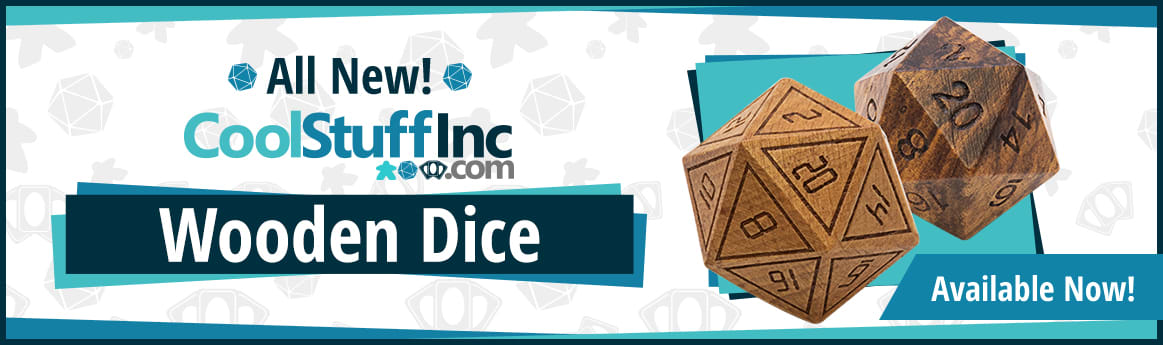CoolStuffInc Wooden Dice available now