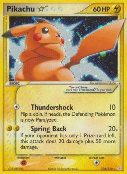 Pikachu * (Star) 104/110