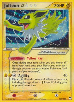 Jolteon * (Star) 101/108