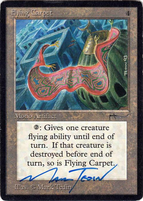 Flying Carpet Signed by Mark Tedin (Arabian Nights)