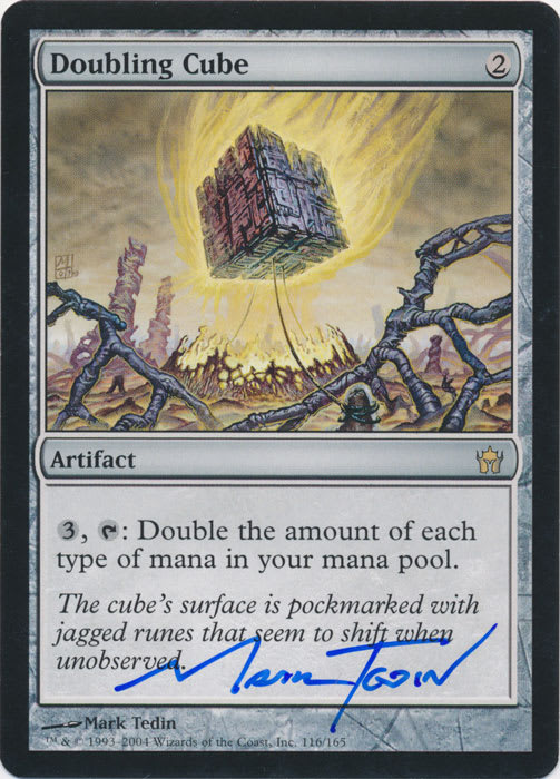 Doubling Cube Signed by Mark Tedin