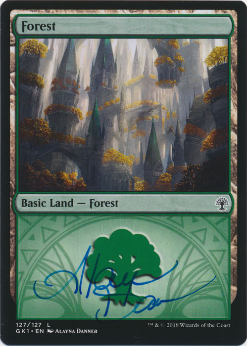 Forest (Guild Kit: Selesnya) Signed by Alayna Danner
