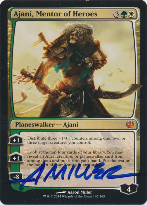 Ajani Mentor of Heroes Signed by Aaron Miller
