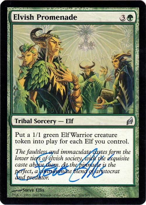 Elvish Promenade Signed by Steve Ellis (Lorwyn)