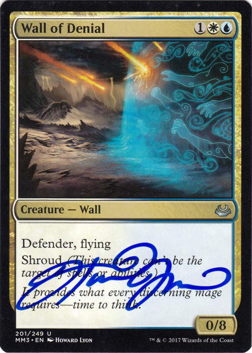 Wall of Denial FOIL Signed by Howard Lyon (Masters 2017)