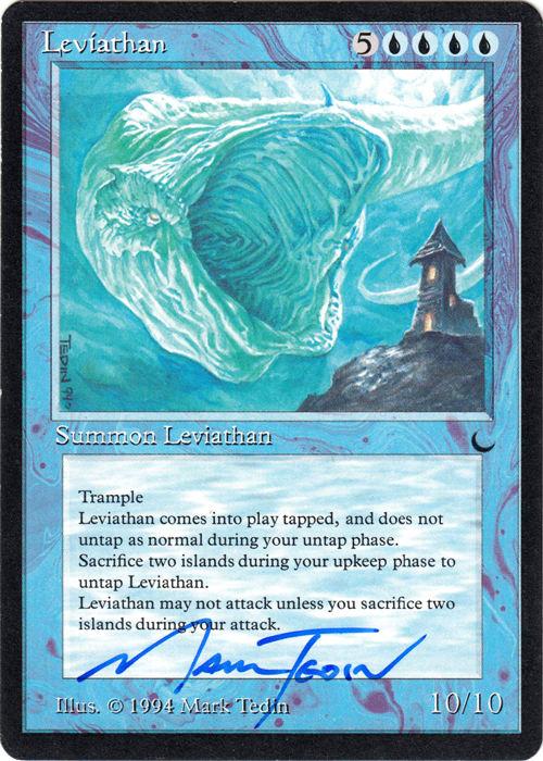 Leviathan Signed by Mark Tedin (The Dark)