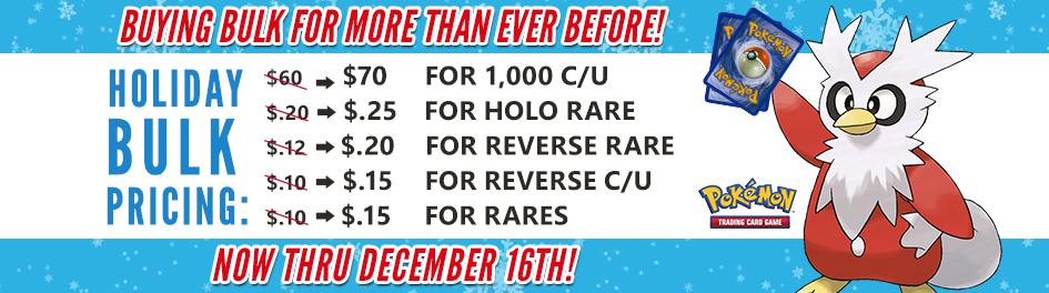 Pokemon Holiday Bulk Pricing