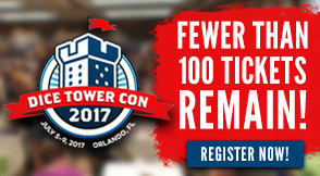 Dice Tower Con - Fewer than 100 Tickets Remain!