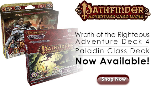Pathfinder Adventure Card Game releases