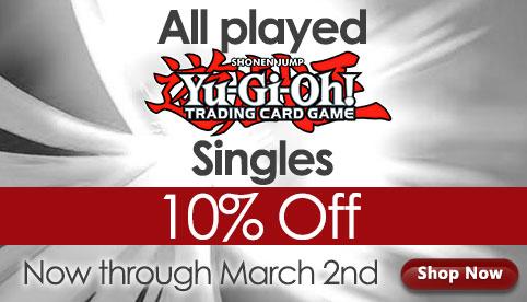 Played Yu-Gi-Oh! Singles Sale
