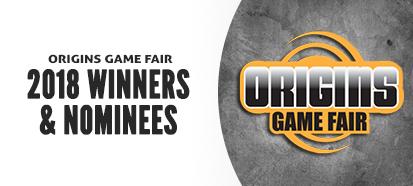 Origins 2018 Winners and Nominees