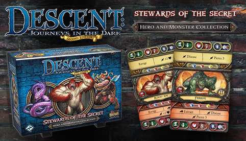 Descent Second Edition: Stewards of the Secret Hero and Monster Collection