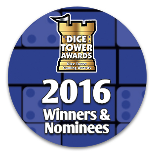 The Dice Tower 2016 Winners and Nominees