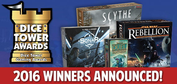 Dice Tower Awards 2016 Winners