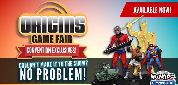 HeroClix Origins 2017 Convention Exclusives