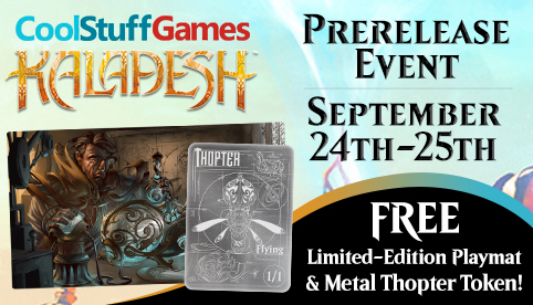CoolStuffGames Kaladesh Prerelease Event