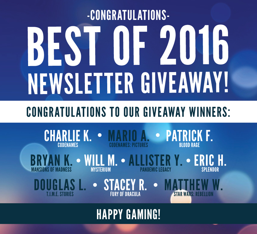 Best of 2016 Newsletter Giveaway