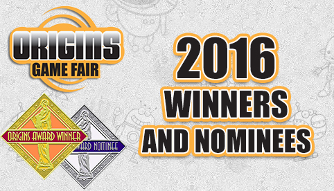 Origins 2016 Winners and Nomimnees