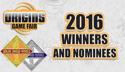Origins 2016 Winners and Nominees