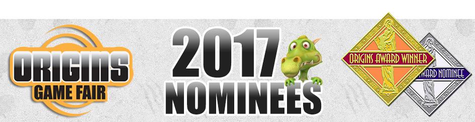 Origins 2017 Nominations