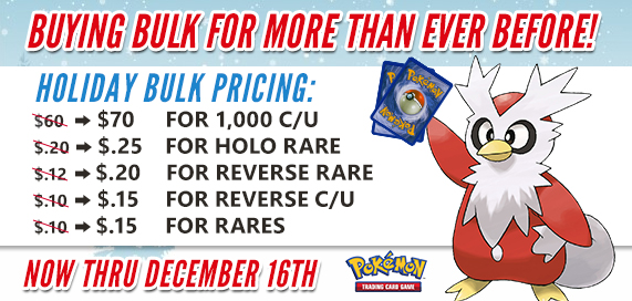 Pokemon Holiday Bulk Pricing