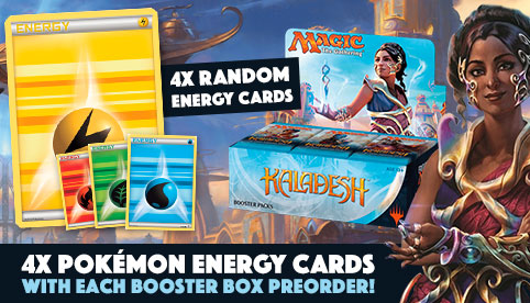 4x Pokemon Energy Cards with Each Booster Box Preorder
