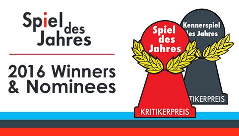 Spiel des Jahres 2016 Winners & Nominees