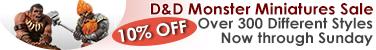 D&D Minis Monsters Sale