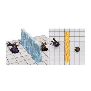 D&D Fantasy Miniatures: Spell Effects - Wall of Fire & Wall of Ice