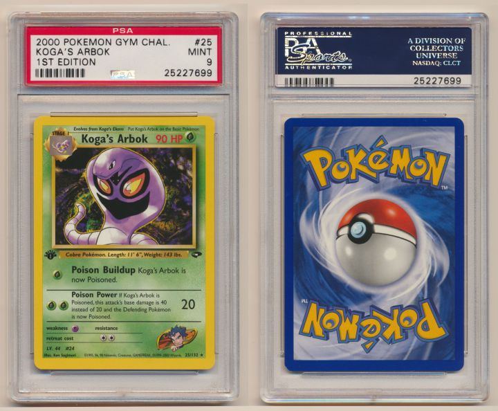 Unique image for Koga's Arbok - Graded Gym Challenge First Edition 25/132