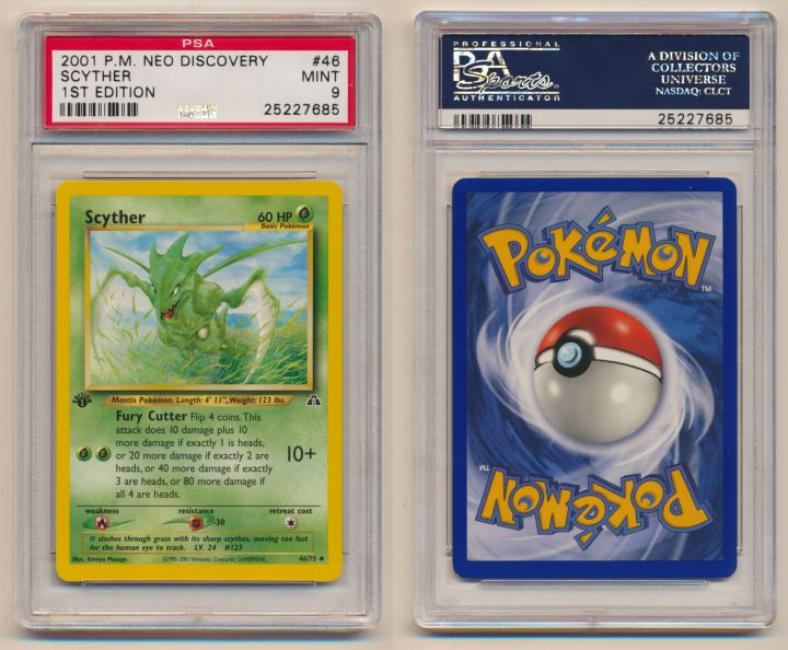 Unique image for Scyther - Graded Neo Discovery First Edition 46/75