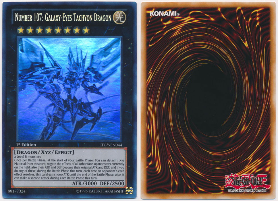 Unique image for Number 107: Galaxy-Eyes Tachyon Dragon (Ghost Rare)