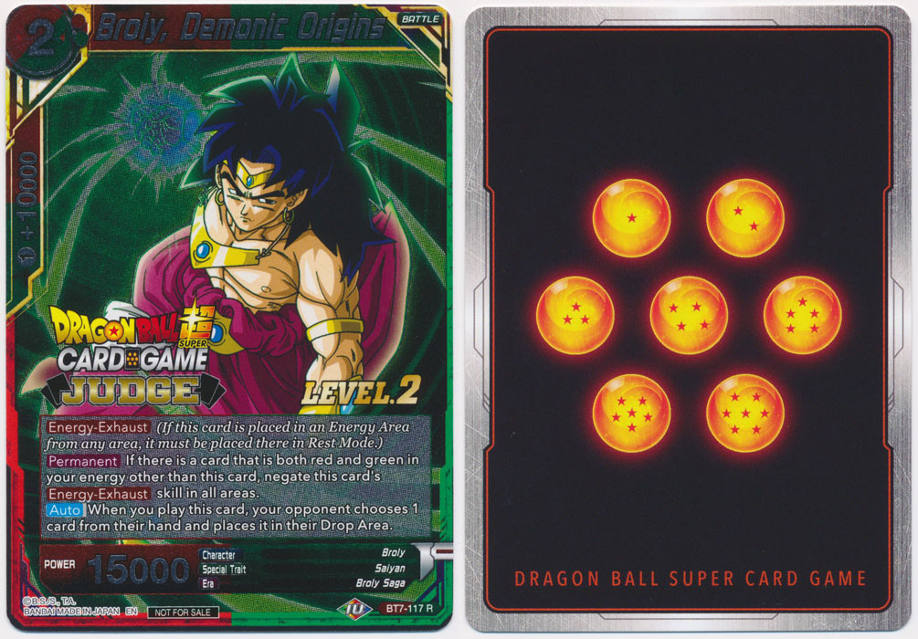 Unique image for Broly, Demonic Origins (Judge Promo)