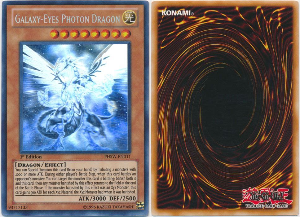 Unique image for Galaxy-Eyes Photon Dragon (Ghost Rare)
