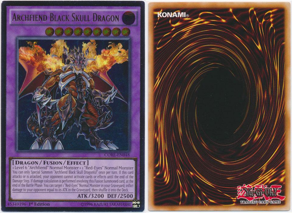 Unique image for Archfiend Black Skull Dragon (Ultimate Rare)