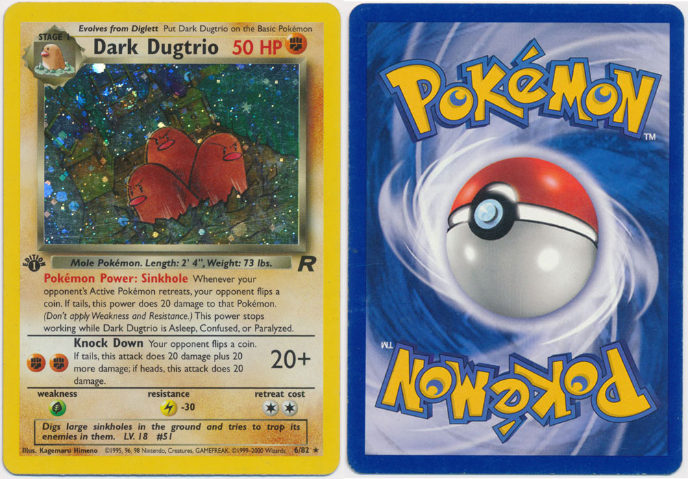 Unique image for Dark Dugtrio - 6/82