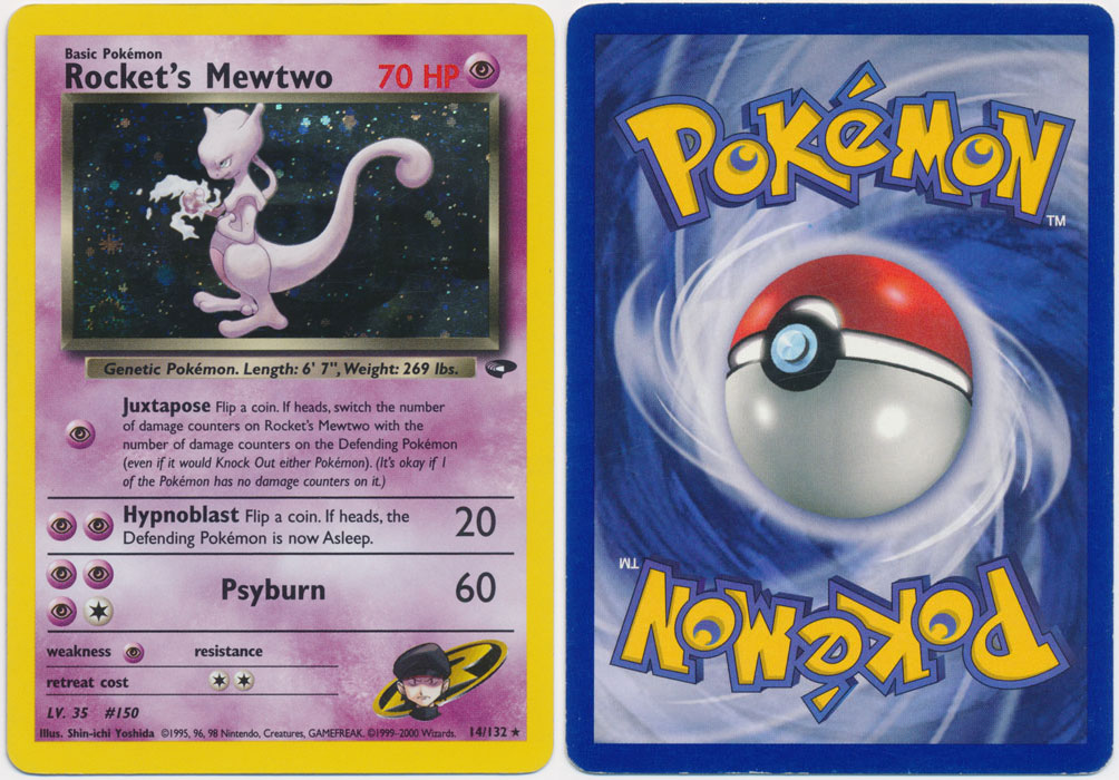 Unique image for Rocket's Mewtwo - 14/132