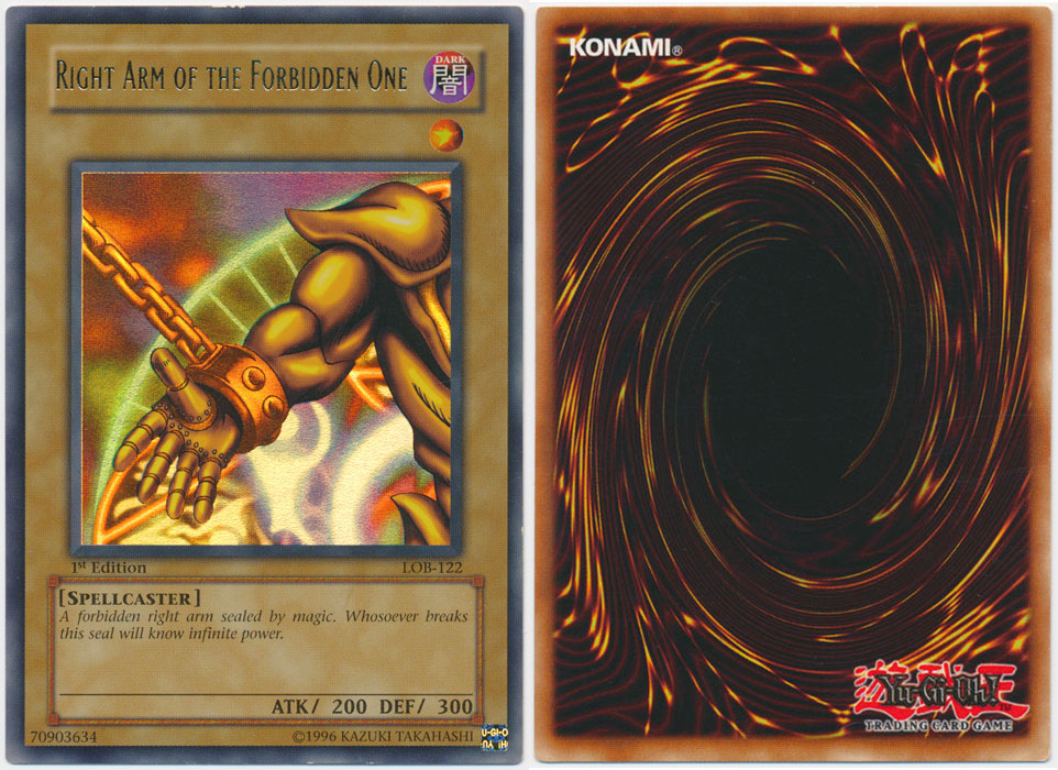 Unique image for Right Arm of the Forbidden One