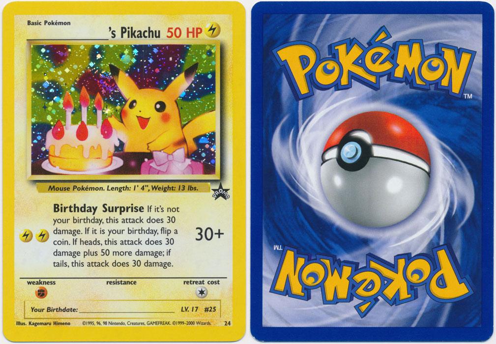 Unique image for _____'s Pikachu - 24 (Birthday Pikachu)
