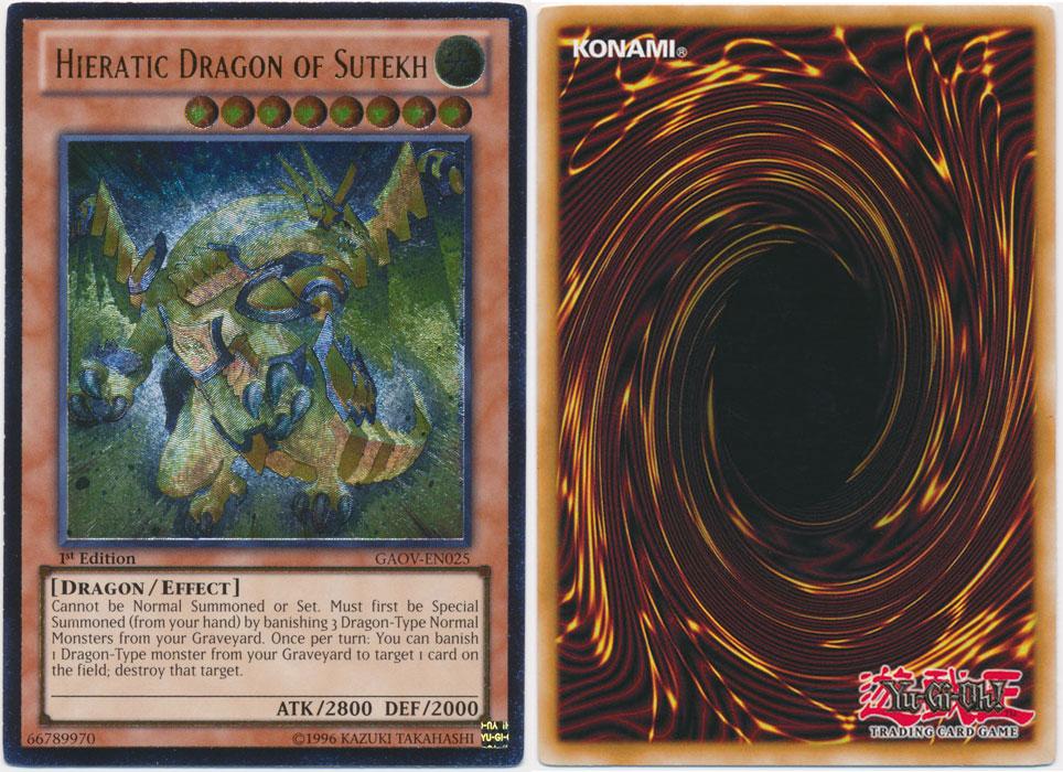 Unique image for Hieratic Dragon of Sutekh (Ultimate Rare)