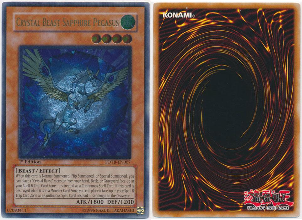 Unique image for Crystal Beast Sapphire Pegasus (Ultimate Rare)