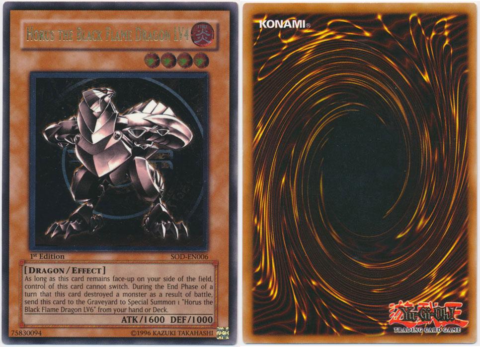 Unique image for Horus the Black Flame Dragon LV4 (Ultimate Rare)