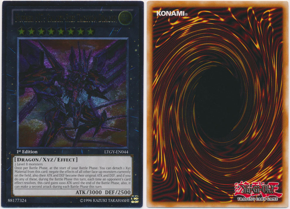 Unique image for Number 107: Galaxy-Eyes Tachyon Dragon (Ultimate Rare)