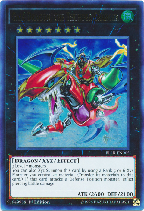 Details about Gaia Dragon, the Thunder Charger Battles of Legend: Lights  Revenge Yugioh
